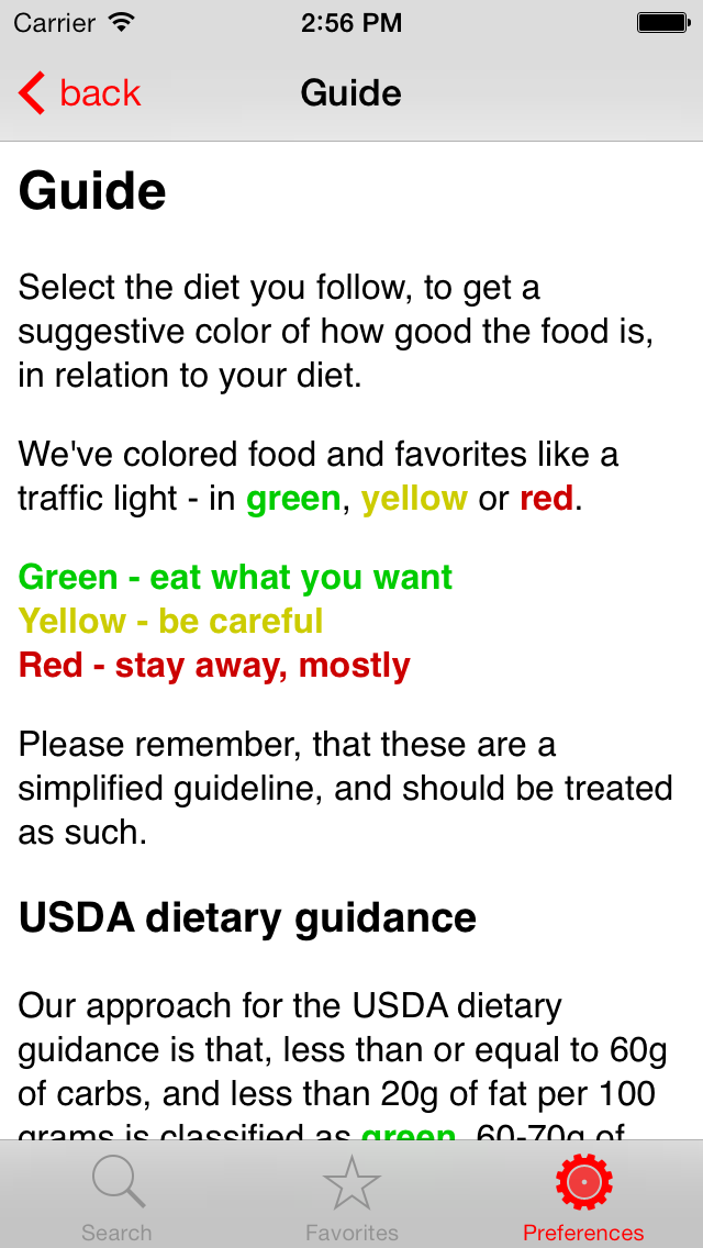 Diet Signal - LCHF/ketogenic/low carb food guide screenshot four