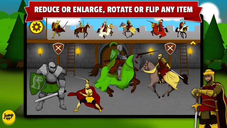 Sticker Play: Knights, Dragons and Castles - Premium screenshot-3