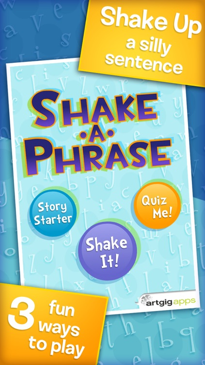 Shake-a-Phrase: Fun With Words and Sentences screenshot-0