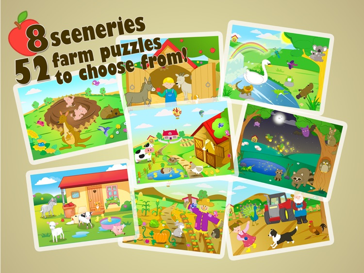Farm Jigsaw Puzzles 123 for iPad - Fun Learning Puzzle Game for Kids screenshot-4