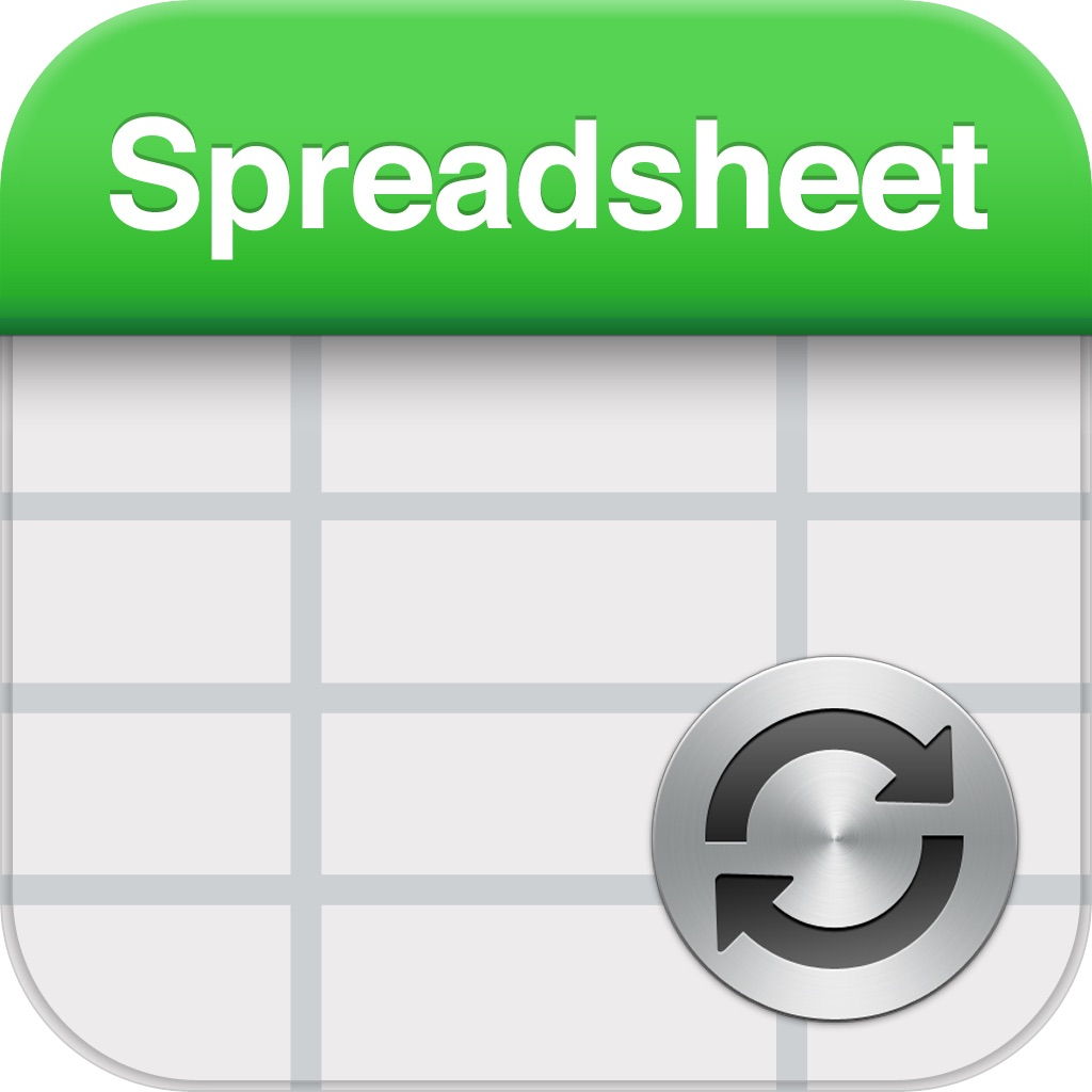 Spreadsheet touch Sync: Simple spreadsheets - compatible with Dropbox