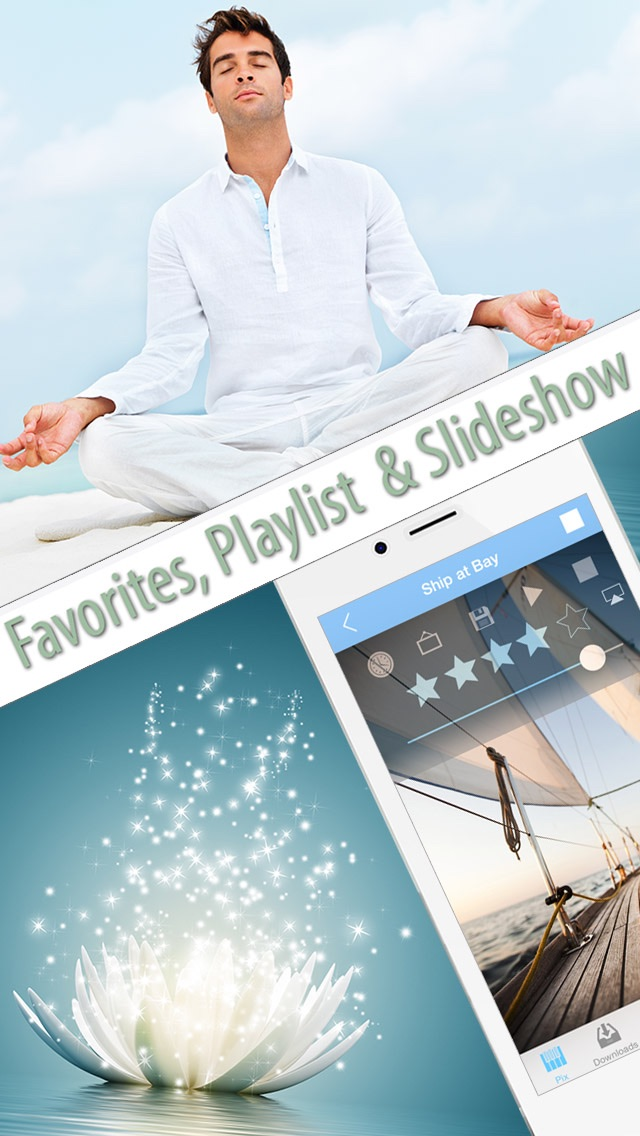 Meditation Sounds And Ambient Music For Nondirective Meditation Reduce Stress Yoga Class Massage The review screenshots