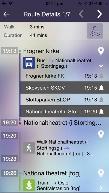 Ontimely-Oslo, norway RuterReise reiseplanlegger,ruter.no rutetider, sanntid planlegg, reise sok i kartet, Free screenshot-3