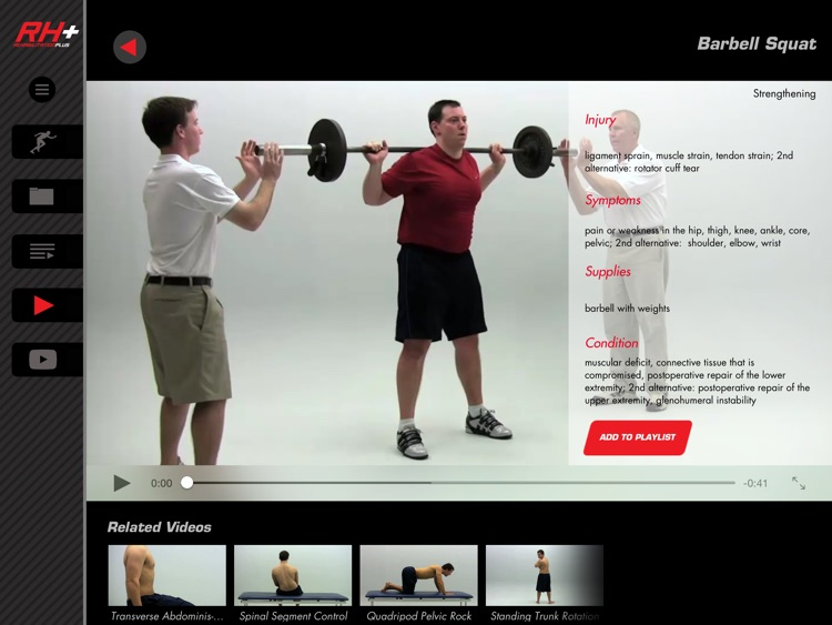 Rehabilitation Plus: Video-Led Exercises for Sports Injury Rehab