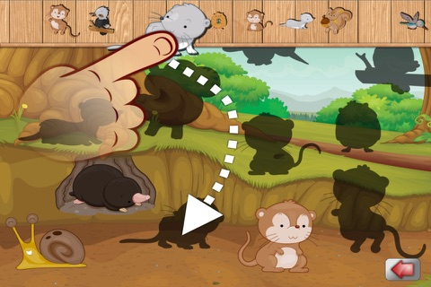 Big Forest Puzzle - free game for toddlers and kids with animals like snakes, bears, frogs ducks, rabbits,  bats, foxes or deers screenshot 2
