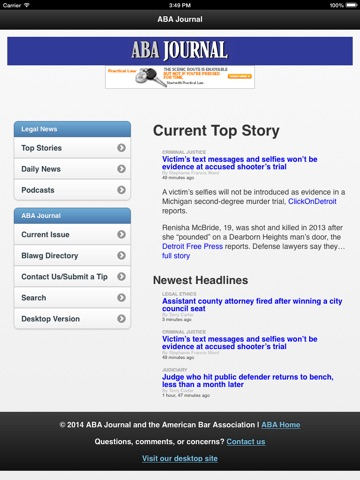 ABA Journal Daily News-ipad-0