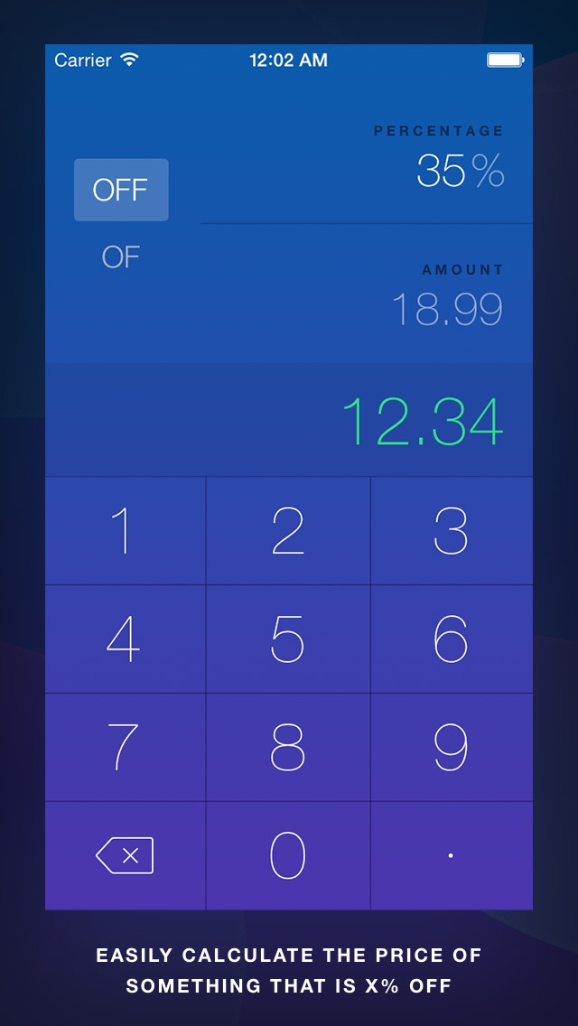 OffOf - Percentage Calculator screenshot one