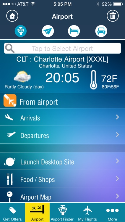 Charlotte Airport - Flight Tracker CLT Douglas American screenshot-1