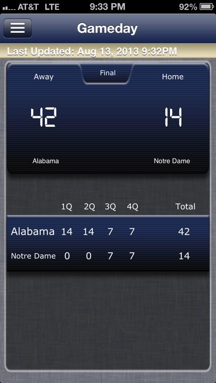 Notre Dame Football Live screenshot-4