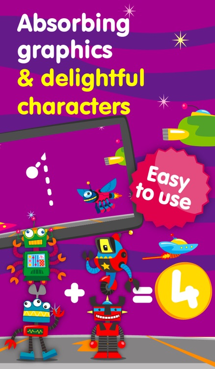 Robots & Numbers - games to learn numbers and practice counting, sums & basic maths for kids and toddlers (Premium) screenshot-3