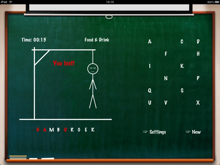Hangman Classic HD screenshot-3