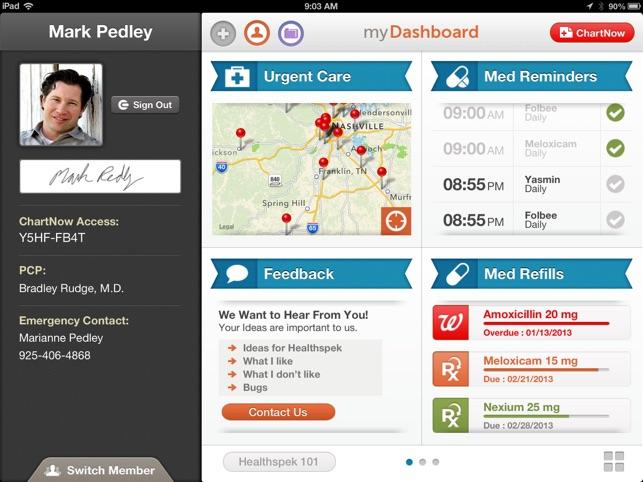healthspek personal health record family health record