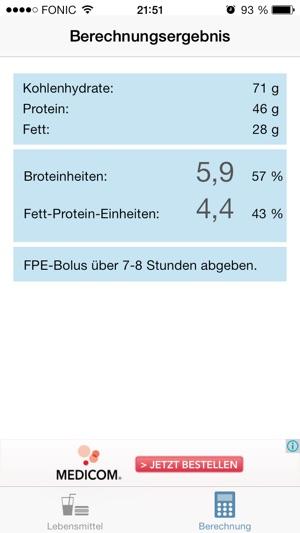 FPE Rechner Screenshot