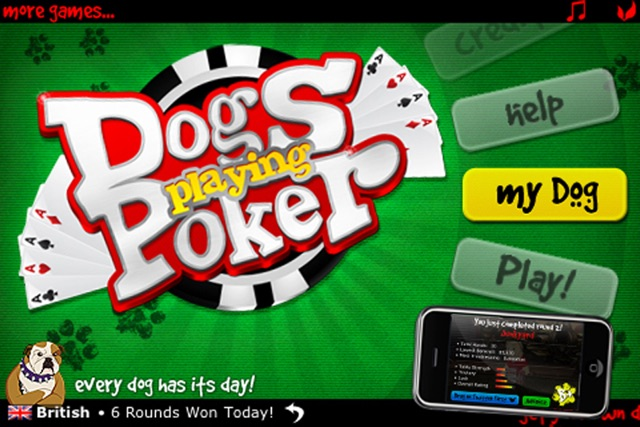 Dogs Playing Poker ~ free Texas hold'em game for all skill levels & dog lovers! Screenshot
