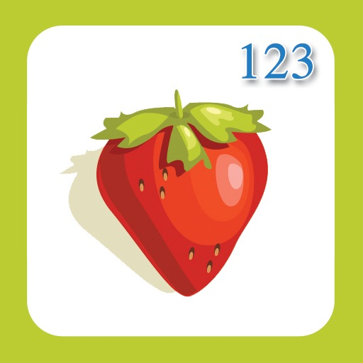Number Flashcards 1-10 - Fruits & Vegetables!