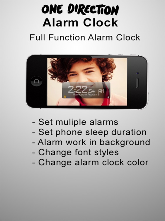 Alarm Clock - For One Direction Fans