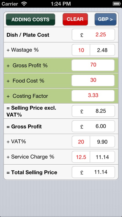 Food costing (made simple)