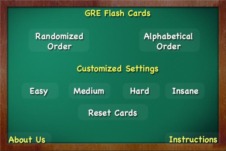 GRE Flash Cards - Verbal Wordlist
