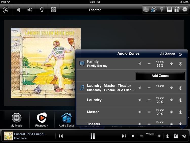 Control4 MyHome - iPad version screenshot-3