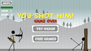 アップル射撃 - 無料ゲーム - 弓と矢 (Stickman Apple Shooting Showdown - Free Bow and Arrow Fun Doodle Skill Game)のスクリーンショット5