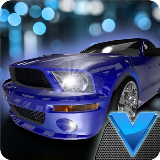 Night cars city parking 3D