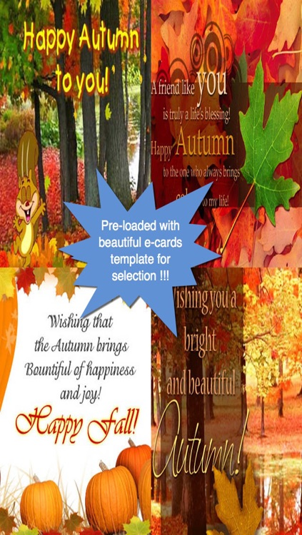 Happy Autumn Greeting Cards