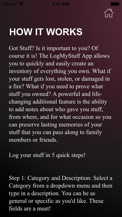 LogMyStuff screenshot-3