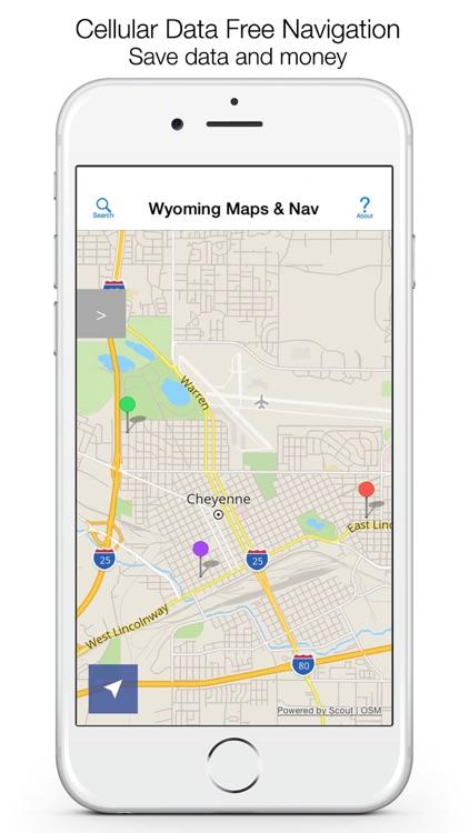 Wyoming Offline Maps & Offline Navigation screenshot-0