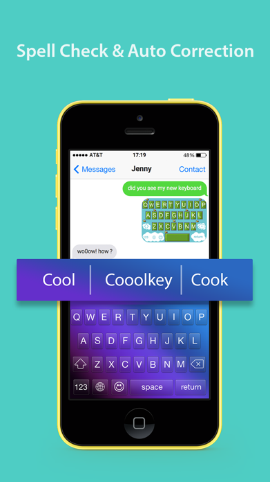 CooolKey - Keyboard for color lovers Screenshot