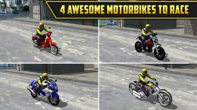3D Motor-Bike Drag Race: Real Driving Simulator Racing Game Screenshot 2