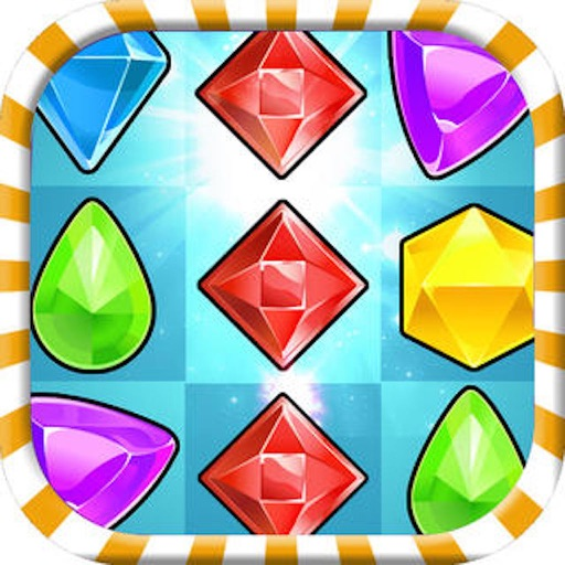 Jewel Crunch Mania - free 3 match puzzle game