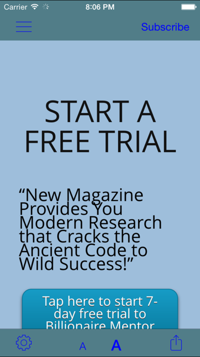 Billionaire Mentor Magazine – Helps in Makin Up your Personal Dreams and Money Maker Business Success Screenshot