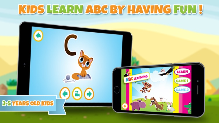 Learn alphabet and letter - ABC learning game for toddler kids & preschool children screenshot-4