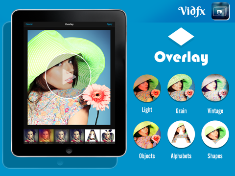 VidFx FREE-Add Video Effects by using Overlays and also