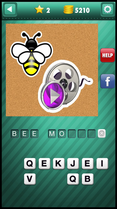 Emoji Guess & Letter Up Icon Pic - find what's the word in this guessing trivia crack pop quiz screenshot three