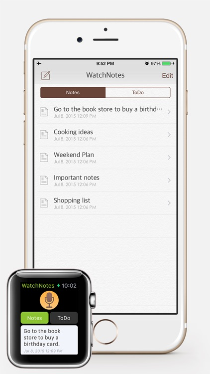 WatchNotes - Notes/Memo/Todo/Checklist for Apple Watch