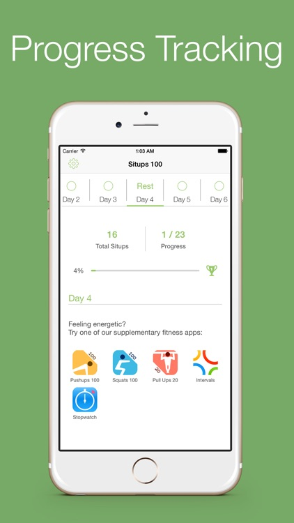 Situps 100 - 30 days workout challenge screenshot-4