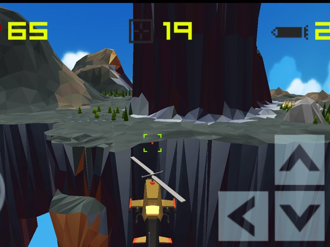 Blocky Helicopter Strike, game for IOS