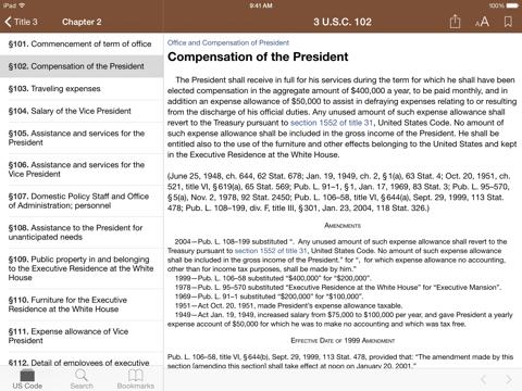 Screenshot #5 pour Codification (U.S. Code)