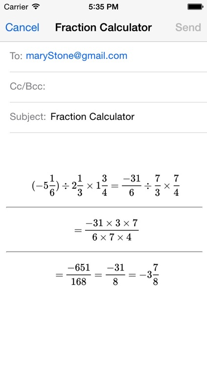 Fraction calculator for arithmetic operations: addition, subtraction, multiplication, and division screenshot-3