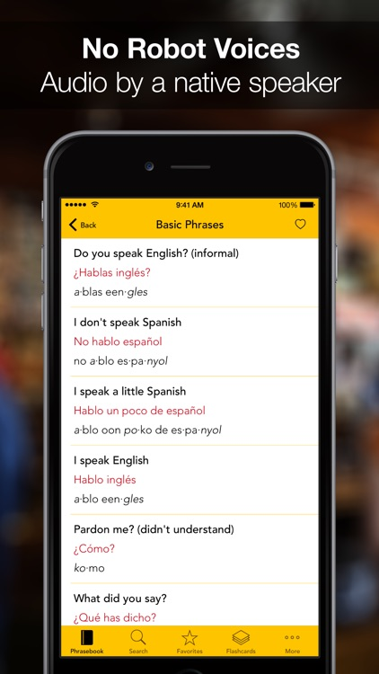 SpeakEasy ~ French, Japanese, Spanish, German Offline Phrasebook and Flashcards with Native Speaker Voice and Phonetics