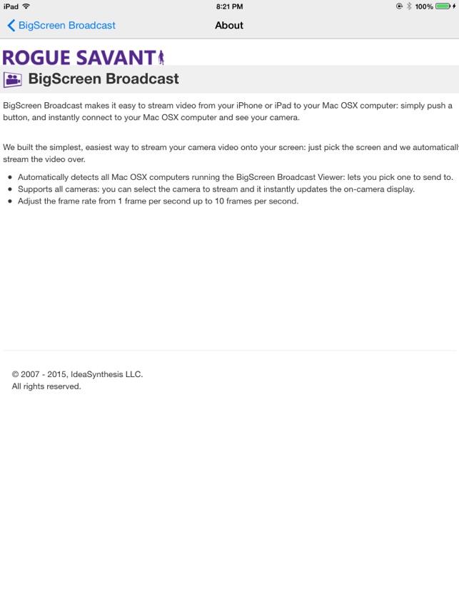 BigScreen Broadcast im App Store