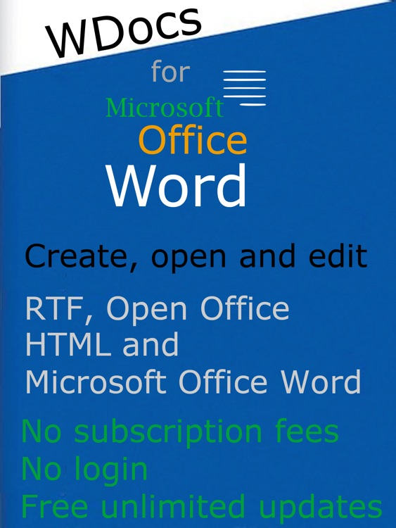 WDocs - Microsoft Office Word Edition doc docx Document Editor