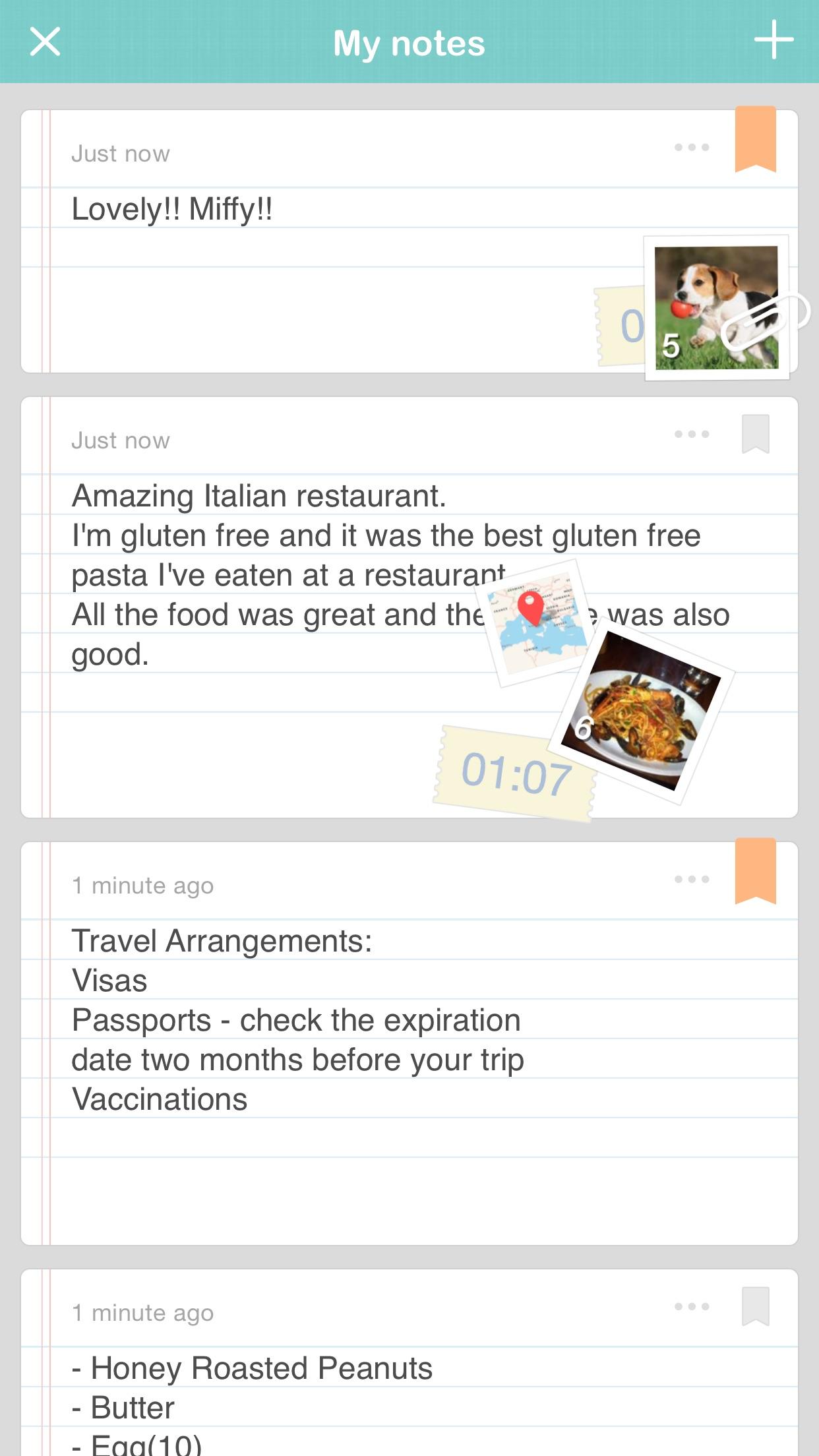 Screenshot do app NOTE'd