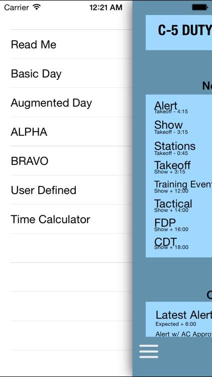 C-5 Duty Day Calc