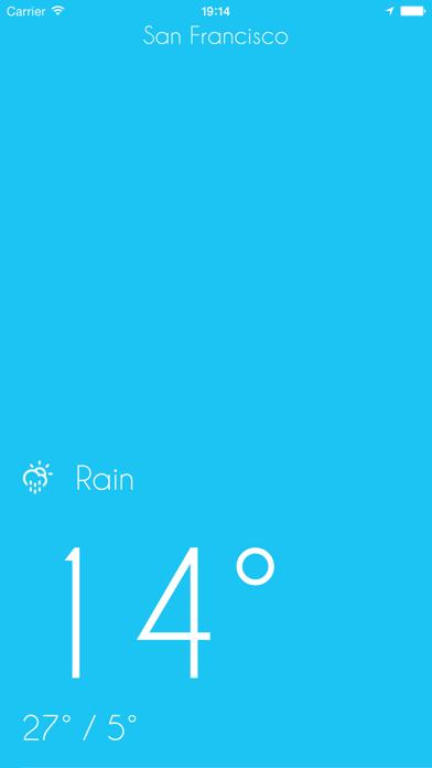 iWeather - Minimal, simple, clean weather appのおすすめ画像2