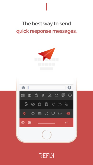 Refly Keyboard - Quick Text Message screenshot one