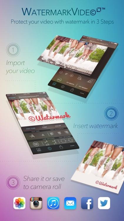 Watermark Video Square Free - Watermarking App for Instagram