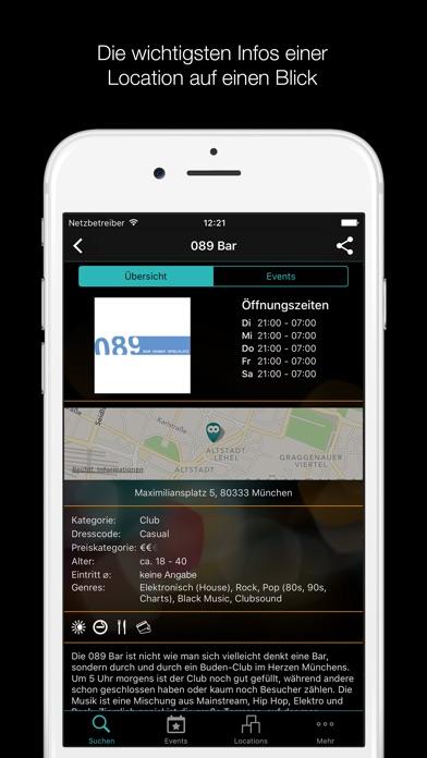 Clubs, Bars und Events in München - clubagoScreenshot von 5