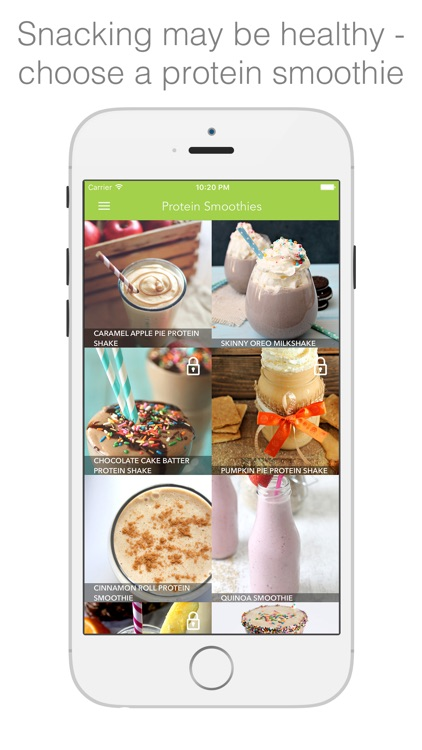 Protein Smoothies - smoothies & shakes for healthy living screenshot-0